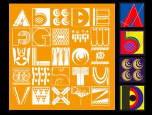 letters-building-an-alphabet-orange-letters
